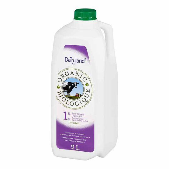 Dairyland Organic 1% Milk-2L