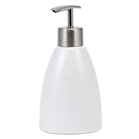Kiera Grace Cleo Ceramic Lotion Pump - White