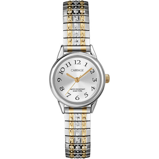 Timex Carriage Mid Size Expansion Watch - Silver/Gold