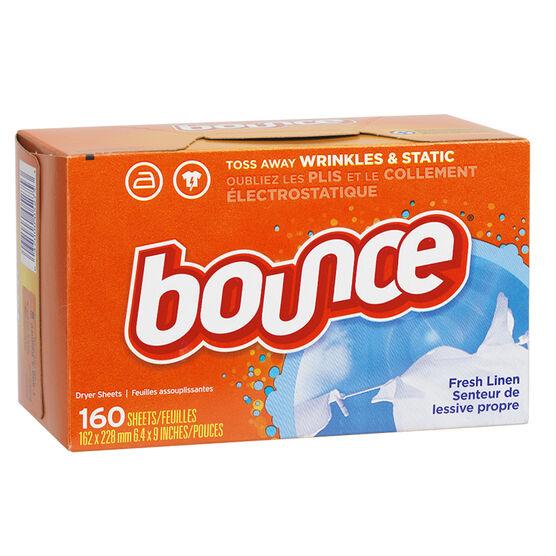 Bounce Dryer Sheets - Fresh Linen - 160's