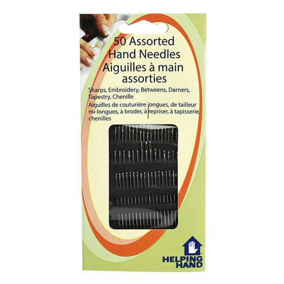 Helping Hand Assorted Hand Needles - 50 pack