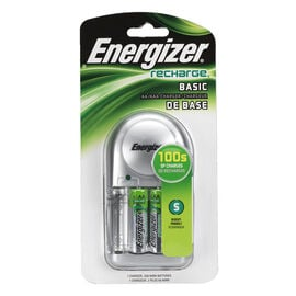 Energizer NiMH Basic Charger with 2AA NiMH Batteries - CHVCWB2