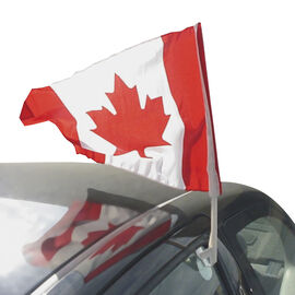 Car Window Canada Flag