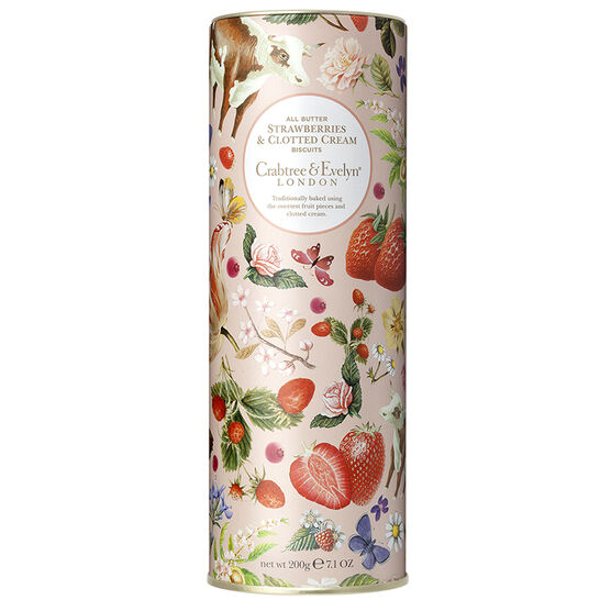 Crabtree & Evelyn All Butter Strawberries & Clotted Cream Biscuits - 200g