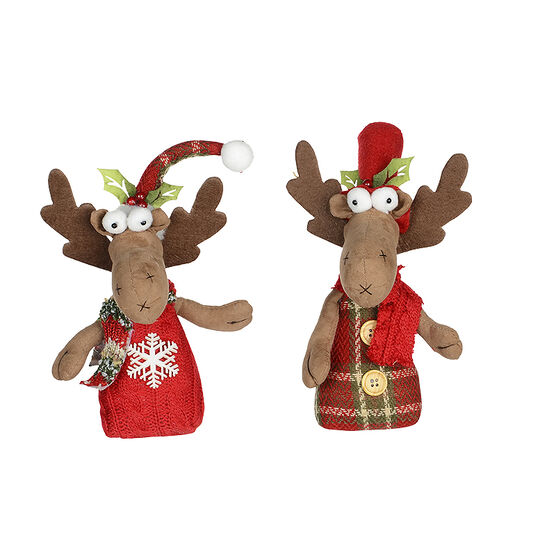 Winter Wishes Hanging Moose - 8in - Assorted