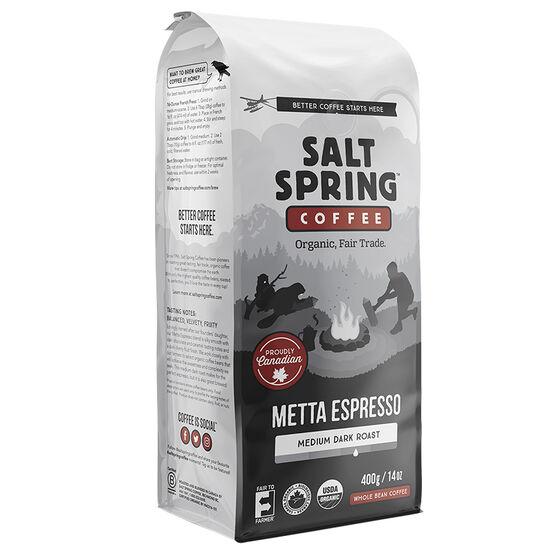 Salt Spring Coffee Metta Espresso - Whole Bean - 400g