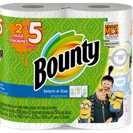 Bounty Towels Select-A-Size Prints Huge Rolls - 2's
