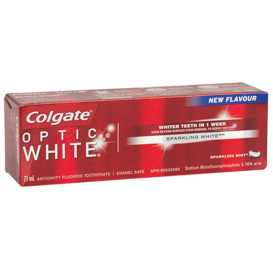 Colgate Optic White Toothpaste - Sparkling Mint - 75ml