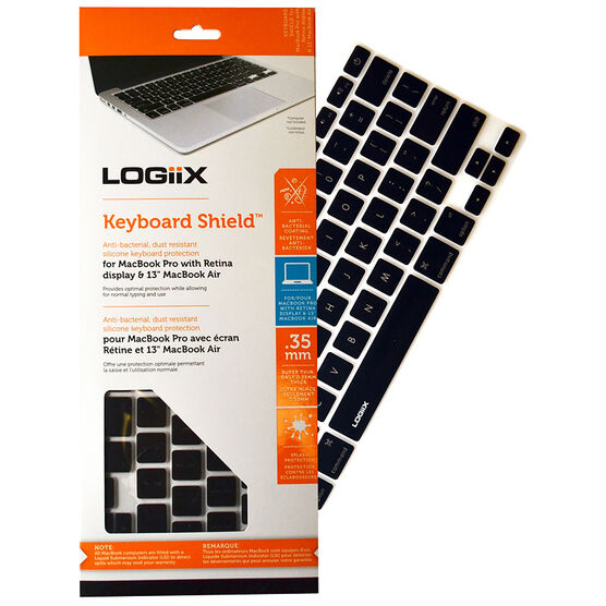 Logiix Keyboard Shield for MacBook Pro with Retina Display and Air 13 - Black - LGX-10892