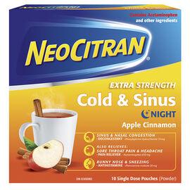 NeoCitran Extra Strength Cold & Sinus Night - Apple Cinnamon - 10's