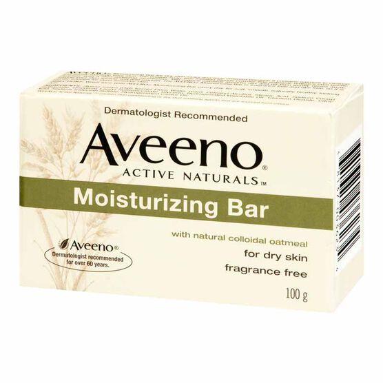 Aveeno Active Natural Moisturizing Bar - Dry Skin - 100g