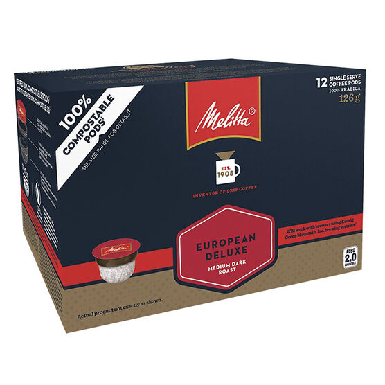 Melitta Single Serve Coffee - European Deluxe - 12 Servings