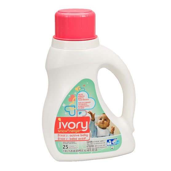 Ivory Snow Liquid Laundry Detergent - Stage 2 - 1.18L