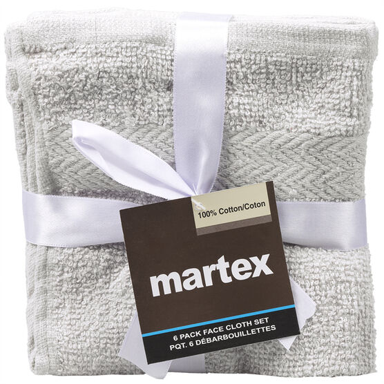 Martex Wash Cloths - Assorted - 6 pack