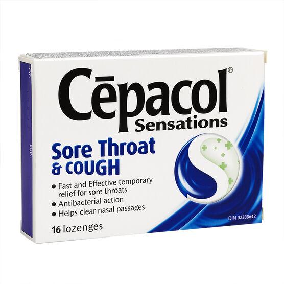 Cepacol Sensations Lozenges Sore Throat and Cough - 16's