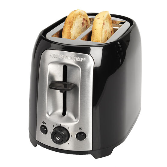 Black & Decker 2 Slice Toaster - Black - TR1278BD