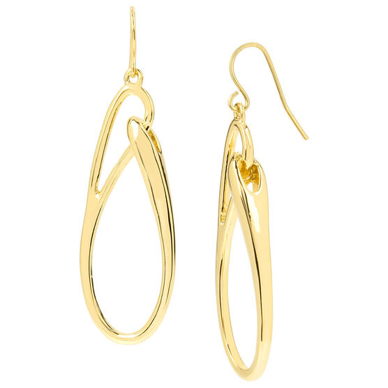 Kenneth Cole Oval Link Drop Earrings - Gold
