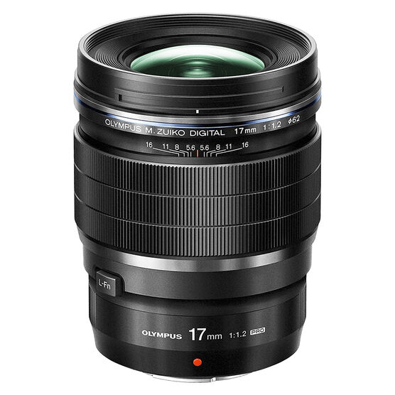 PRE-ORDER: Olympus M.Zuiko ED 17mm F1.2 Pro Lens - Black - V311100BU000