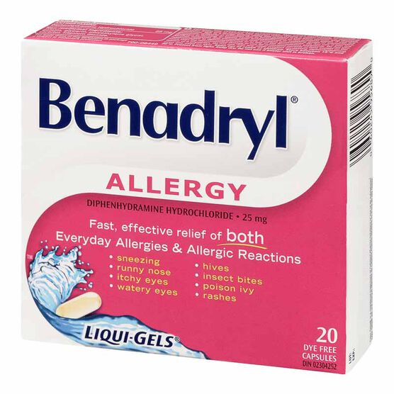 Benadryl Allergy Fast Acting Liqui-Gels -  25mg/20's