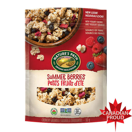 Nature Path Organic Pure Oats Granola Cereal - Summer Berry - 312g