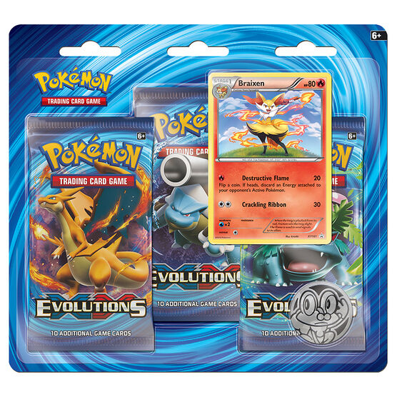Pokemon XY12 Evolutions - 3 pack - Assorted