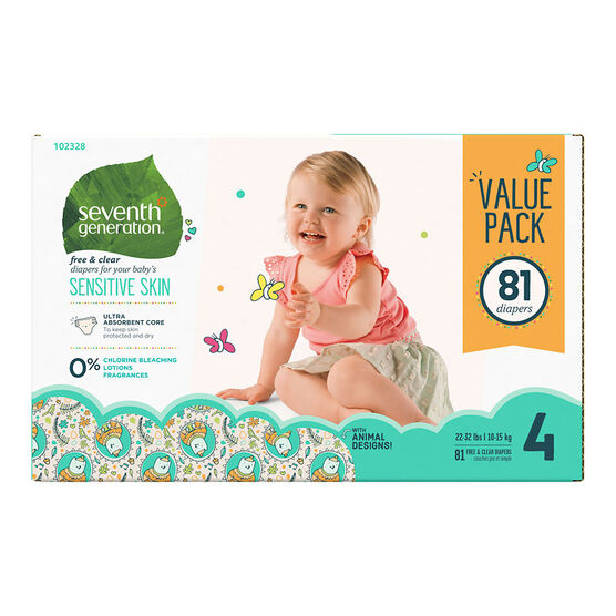 7th Generation Diapers - Stage 4 - 81s
