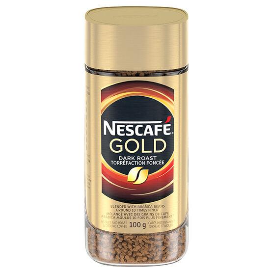 Nescafe Gold Instant Coffee - Dark Roast - 100g