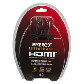 Energy HDMI to Micro Cable Type A-D - 2M - EPHDMICRO2