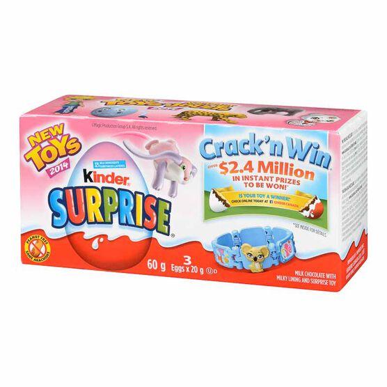 Kinder Surprise - Girls - 3piece/60g