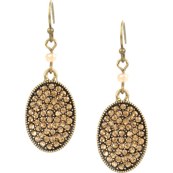 Haskell Pave Drop Earrings - Topaz/Ox