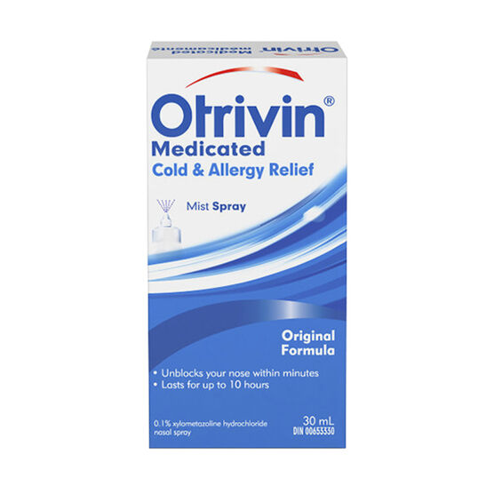 Otrivin Medicated Cold & Allergy Relief with Moisturizers - 20ml