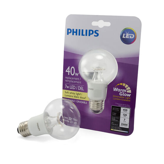 Philips Globe G25 LED Light Bulb - Clear Warm - 10w/40w