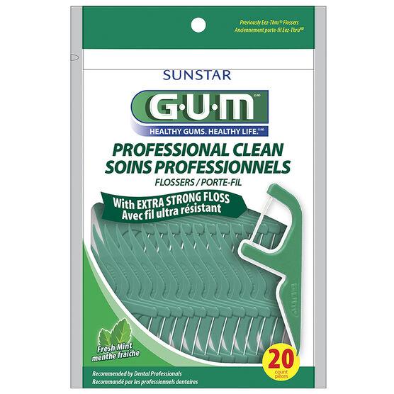 G.U.M Flosser Professional Clean - Fresh Mint -20's
