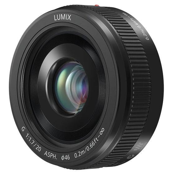 Panasonic LUMIX 20mm F1.7 Pancake Lens - Black - HH020A