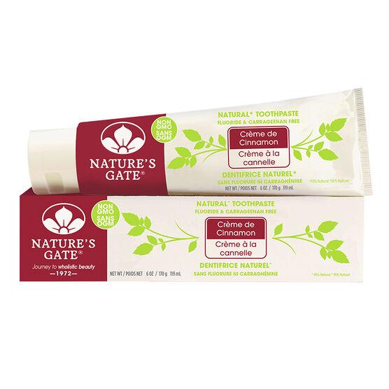Nature's Gate Toothpaste - Creme de Cinnamon - 170g