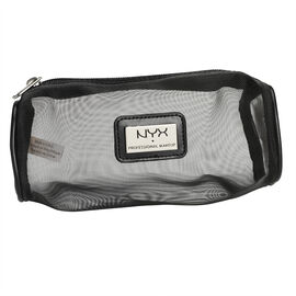 NYX Professional Makeup Mesh Zipper Makeup Bag - Black
