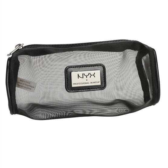 NYX Professional Makeup Mesh Zipper Makeup Bag - Black