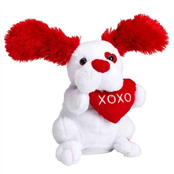 Valentine's 7inch Flapping Ears Dog - Assorted
