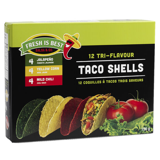 Fresh is Best Tri-Flavour Taco Shells - 156g