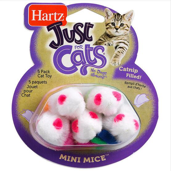 Hartz Mini Mice Cat Toy - Assorted - 5 pack