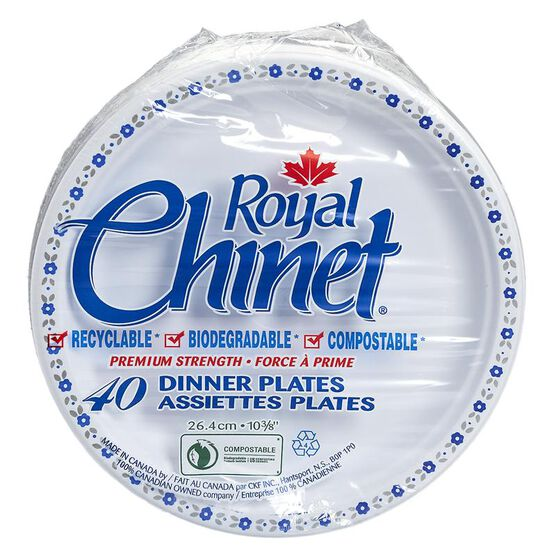 Royal Chinet Dinner Plates