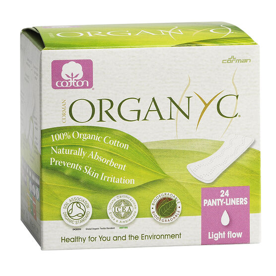 Organyc Panty-Liners Wrapped - Light - 24's