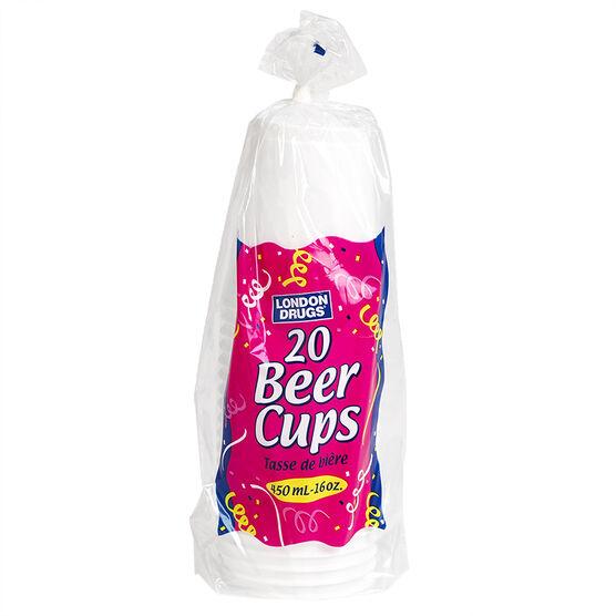 London Drugs Plastic Beer Cups - 16oz/20's