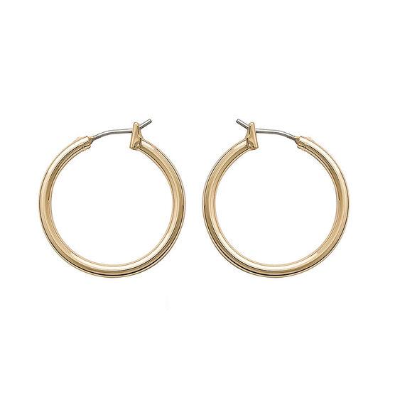 Anne Klein Pendant Hoop Earrings - Gold