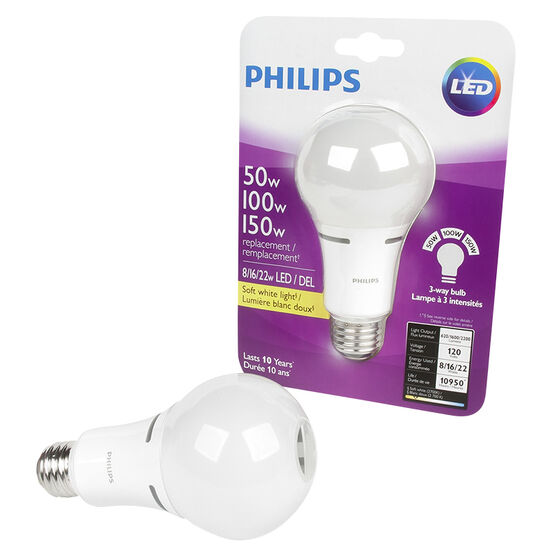 Philips A21 Trilight LED Light Bulb - Soft White - 50/100/150w