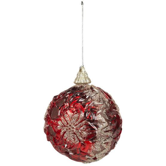 Christmas Tartan Cut Out Ball Ornament - 3.75in