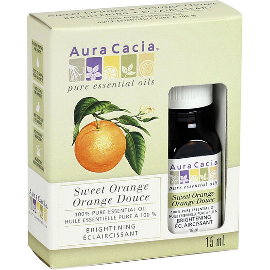 Aura Cacia Sweet Orange Oil -15ml