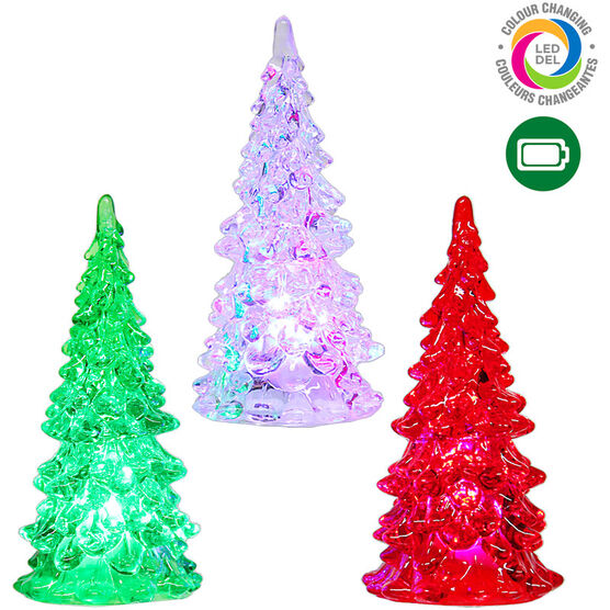 Danson Battery Operated LED Colour Tree - Assorted - 4.5in