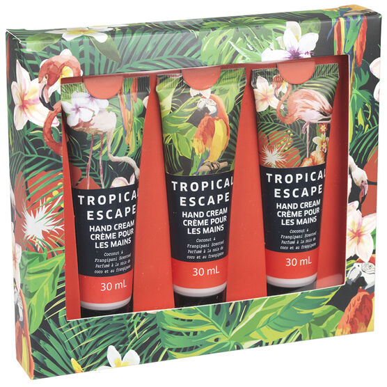 Tropical Escape Hand Cream - Coconut Frangipani - 3 x 120g