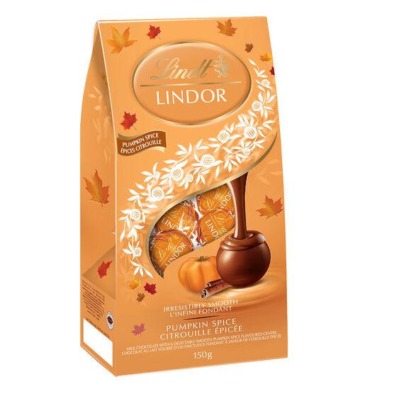 Lindt Lindor Bag - Pumpkin Spice - 150g